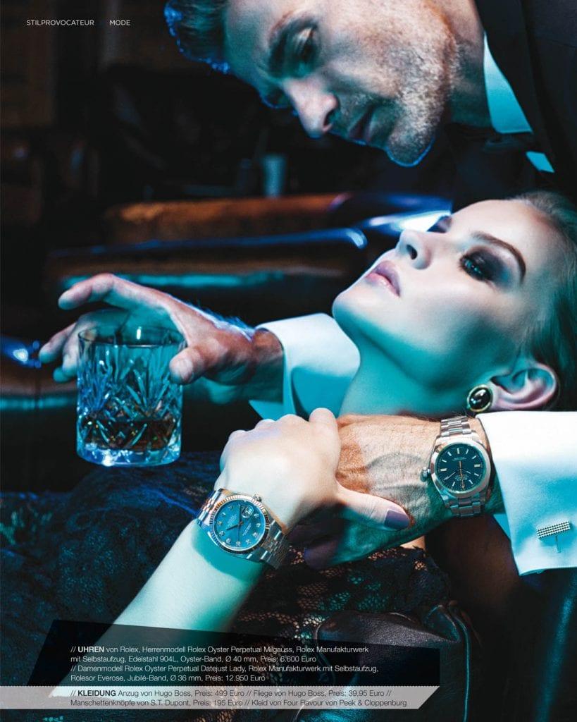 Uhrenfotoshooting Mann & Frau mit Uhren am Handgelenk